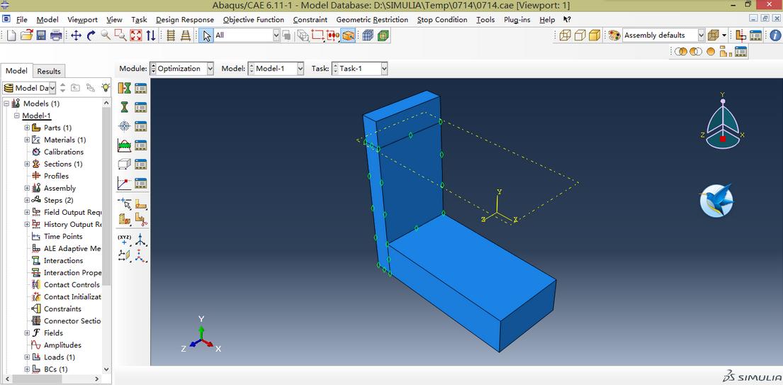 某一个分析步的流程步骤都需调出相应的界面来进行设置.